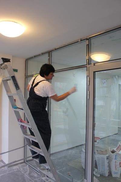 Мойка стеклянных поверхностей